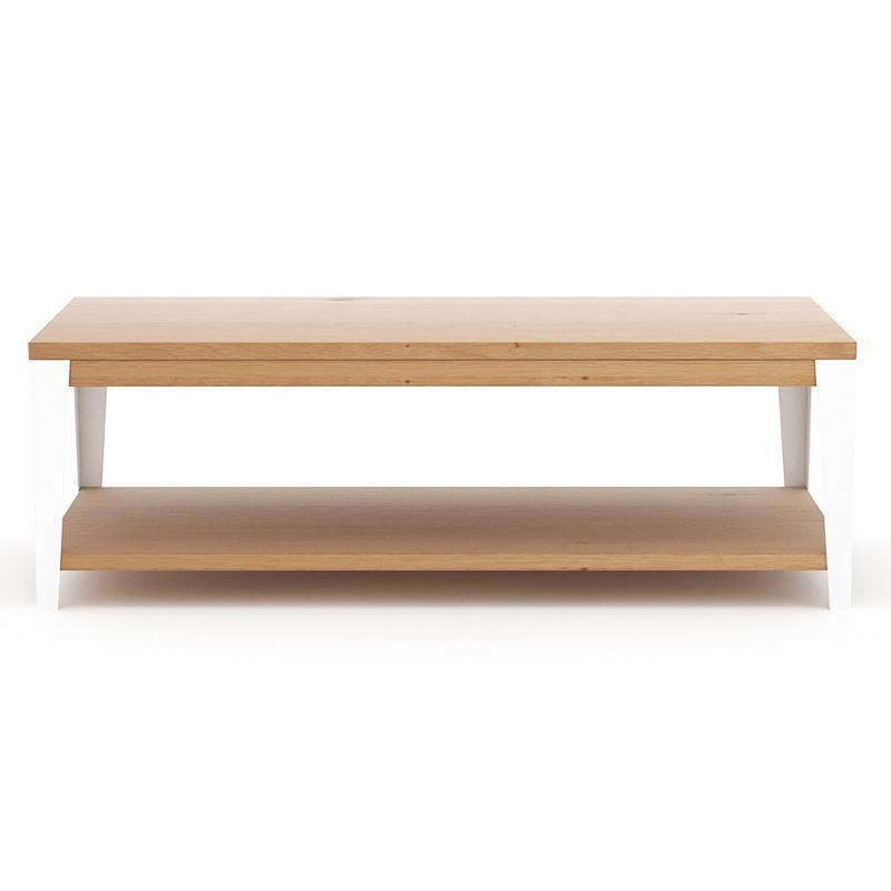 Industrial Coffee Table White: Industrial M Coffee Table