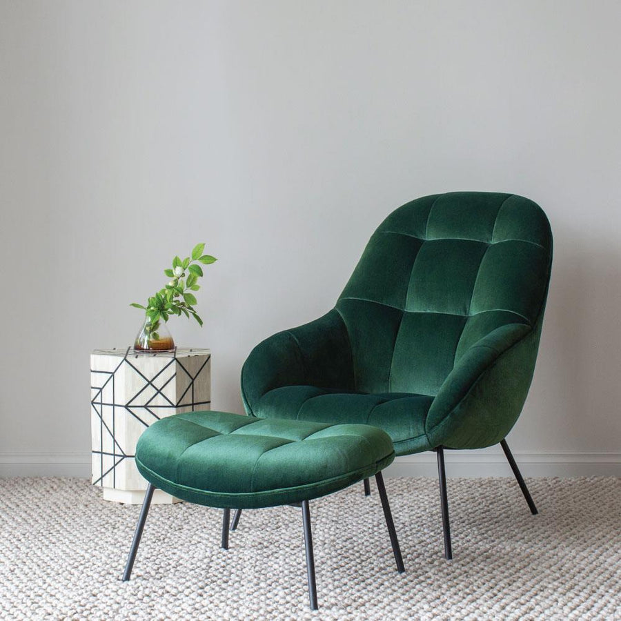 Mango Chair in Forest Green Velvet