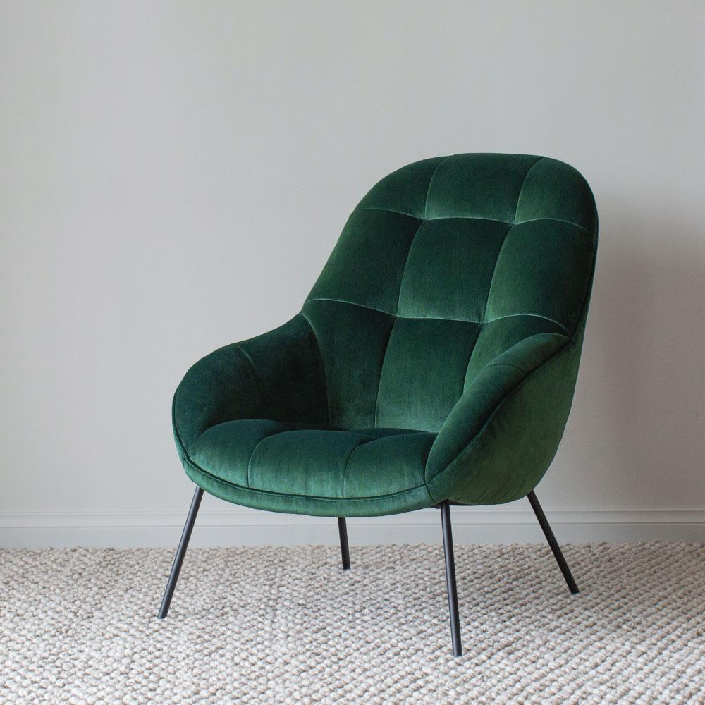 buy Mango Chair in Forest Green Velvet online