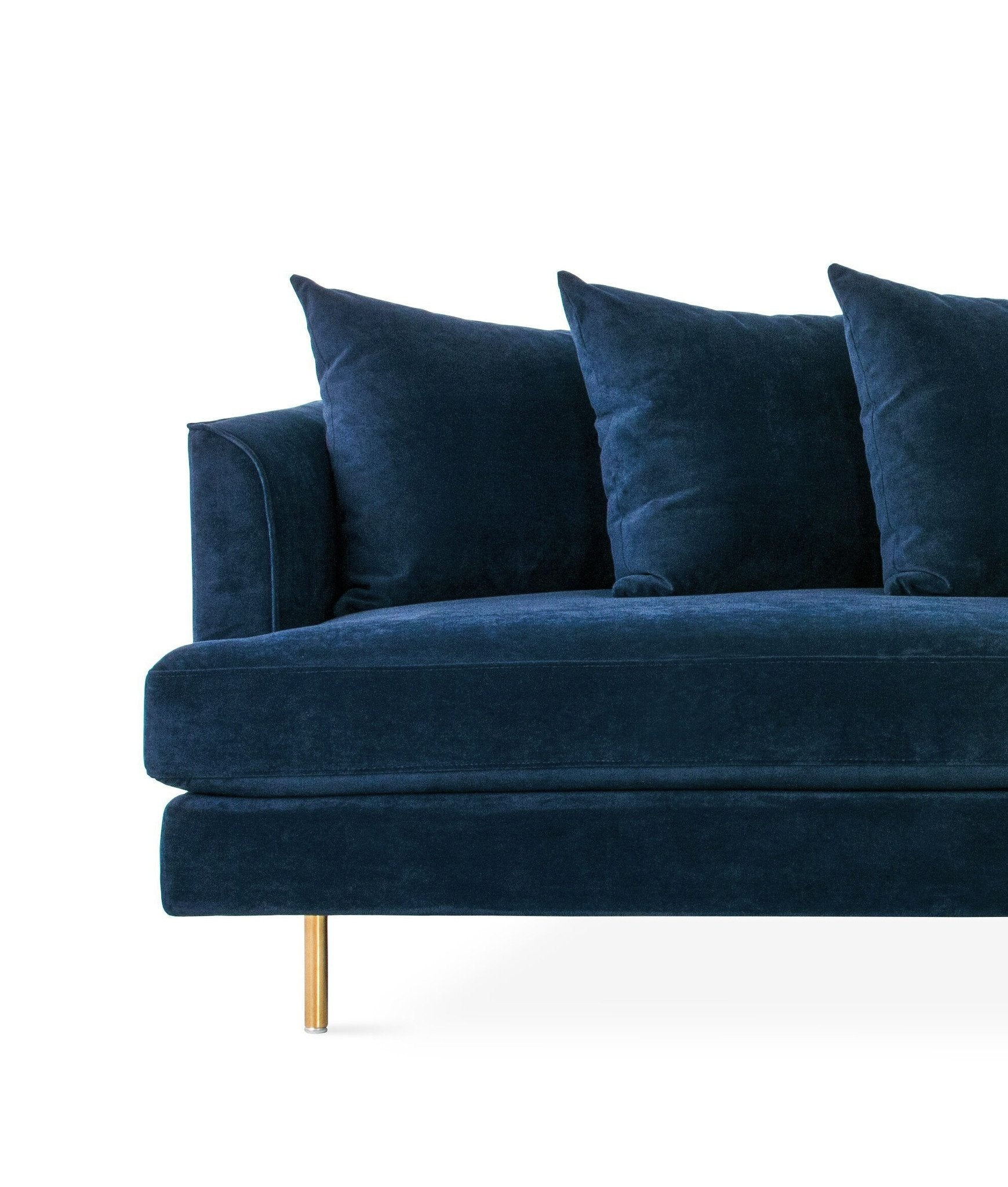 Margot midnight blue velvet sofa