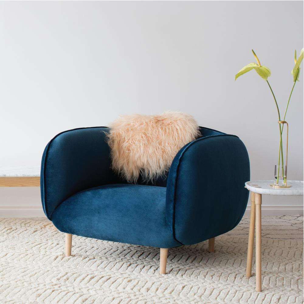 Mellow Chair in Teal Velvet