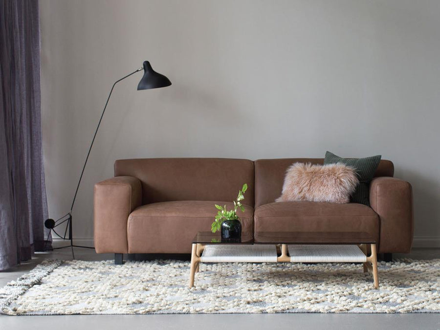 Moln 3 Seater Sofa in Kastanj Leather
