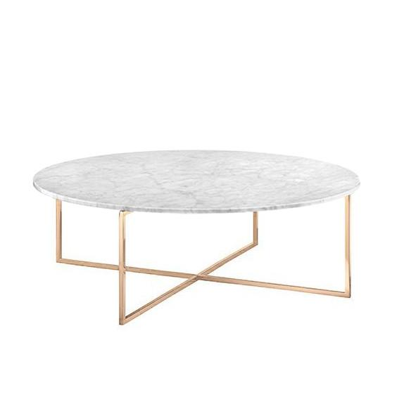 Elle Luxe Round Marble Coffee Table