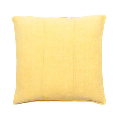 100% Pre-washed Yellow Linen Cushion