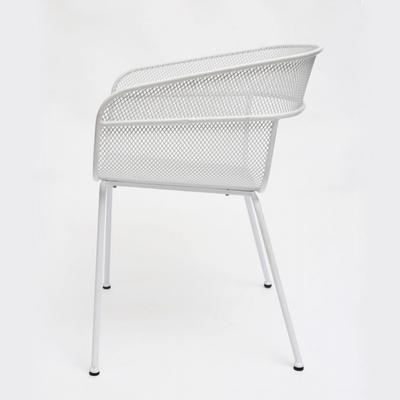 Scoop Outdoor Dining Chair in White