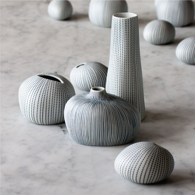 buy Large Pebble Vase - Blue/White online