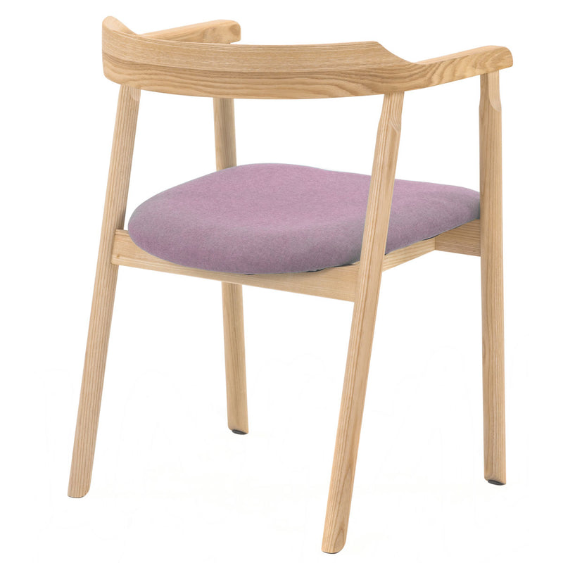 NOFU 737 Dining Chair - Pink/Natural Ash