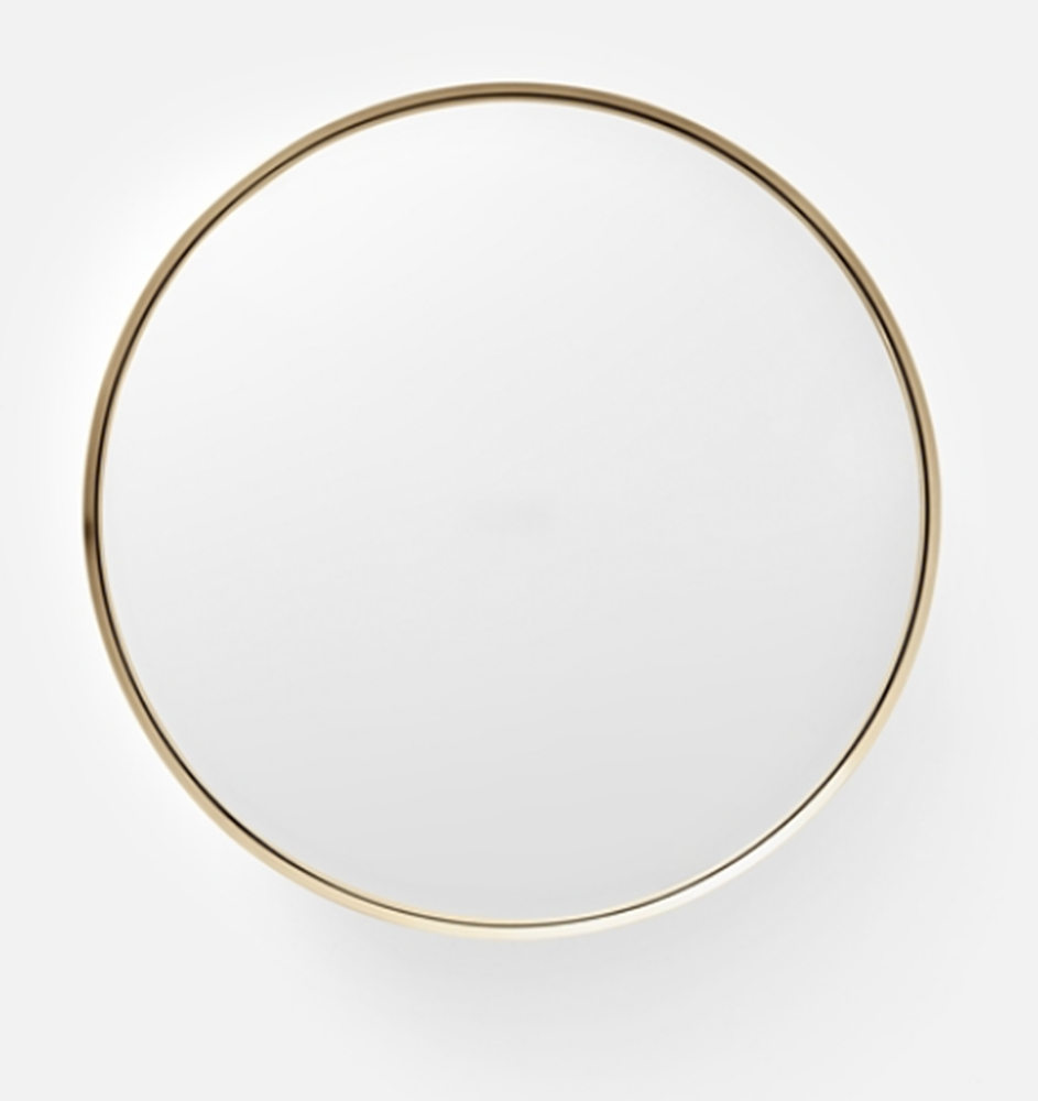 Darkly Mirror in Brass