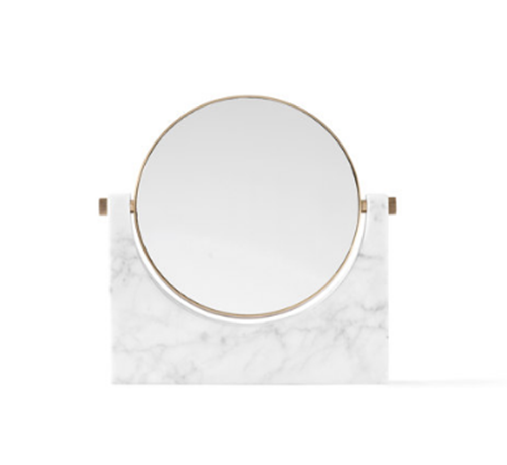 buy Pepe Marble Mirror in Brass & White online