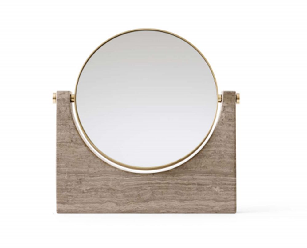 buy Pepe Marble Mirror in Brass & Honed Brown online