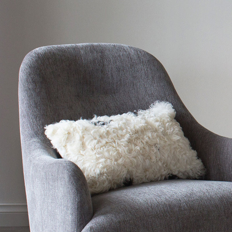 buy Sheepskin Cushion - Black and White online