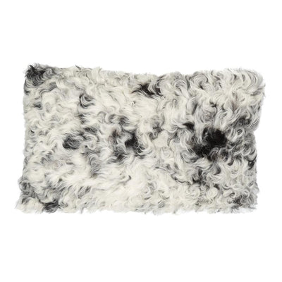 Sheepskin Cushion - Black and White