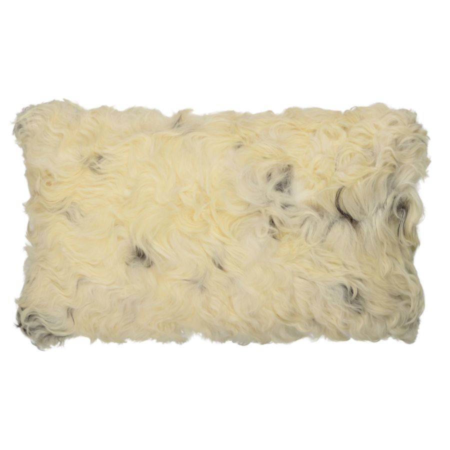 buy Sheepskin Cushion - Brown and White online