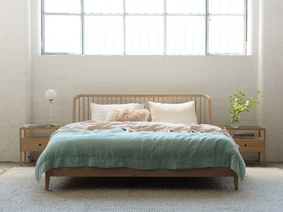 buy Ethnicraft Oak Spindle Queen Bed online
