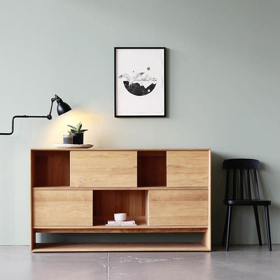 Ethnicraft Oak Nordic Low Display Unit