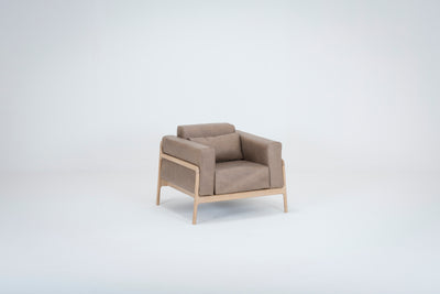 Fawn Armchair - Dakar Stone Leather