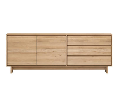 Ethnicraft Oak Wave sideboard – 2 doors / 3 drawers