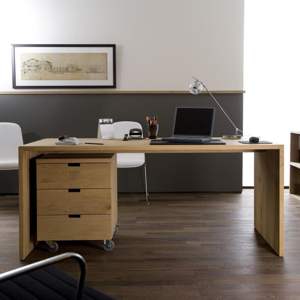 timber office desk. ethnicraft u table study desk 140 timber office