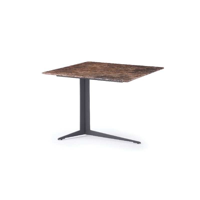 La Vie Side Table - Brown Marble