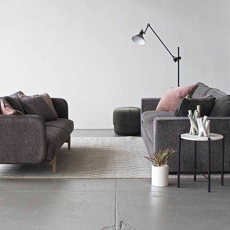 Calma Sofa 3 Seater Dark Grey