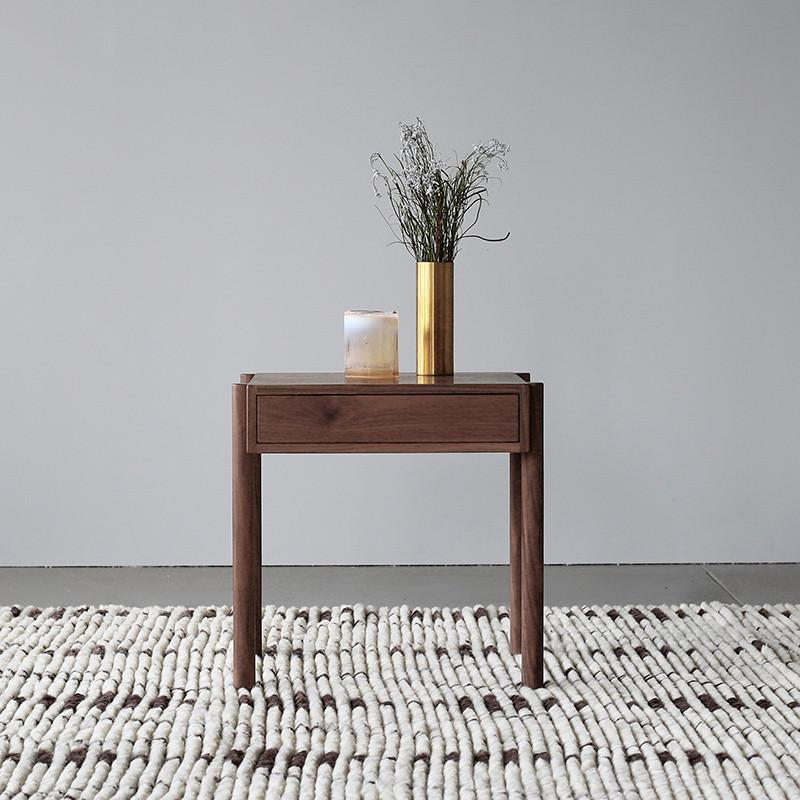 Exclusive - Linear Walnut Bedside Table