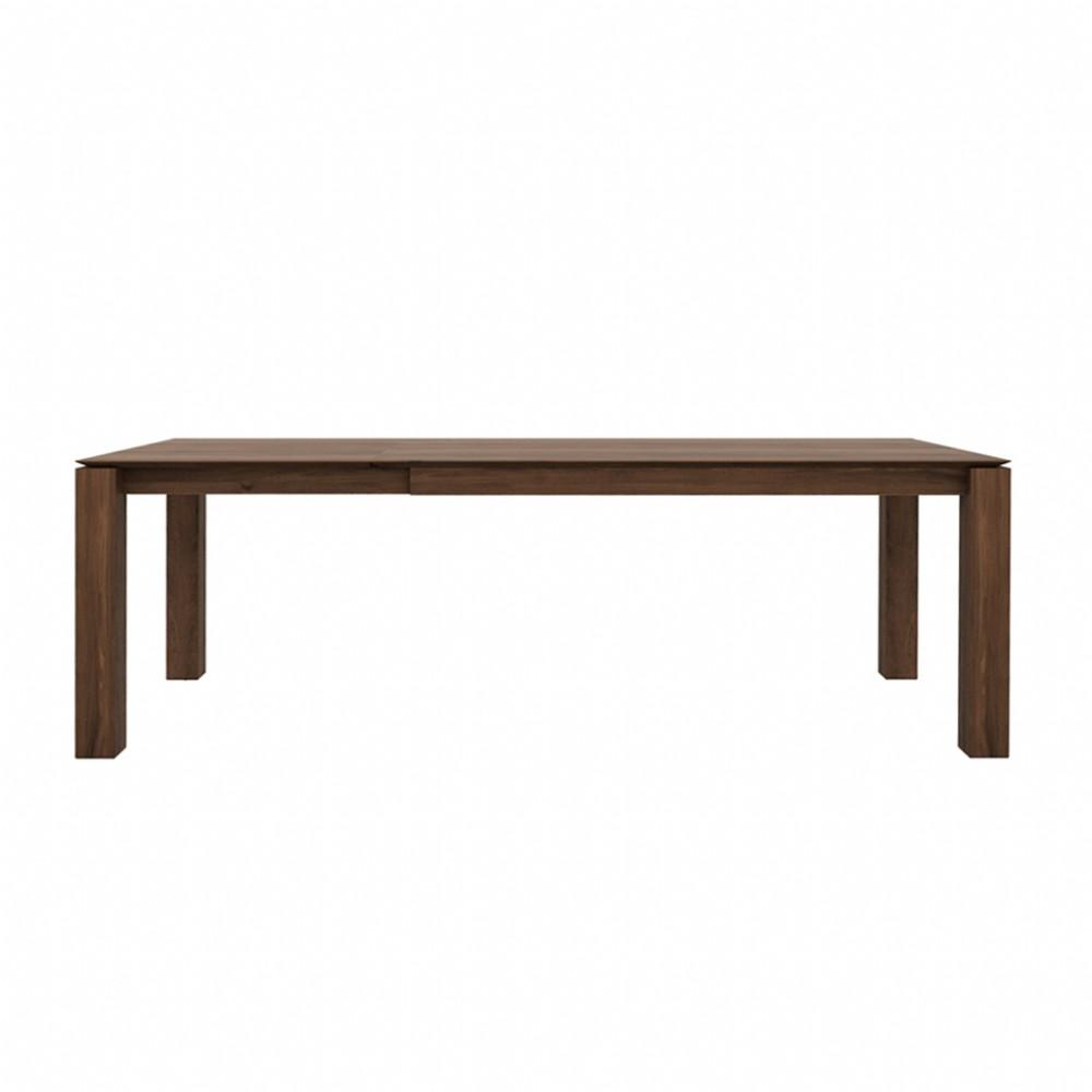 buy Ethnicraft Walnut Slice Extendable Dining Table - Legs 10 x 10cm online