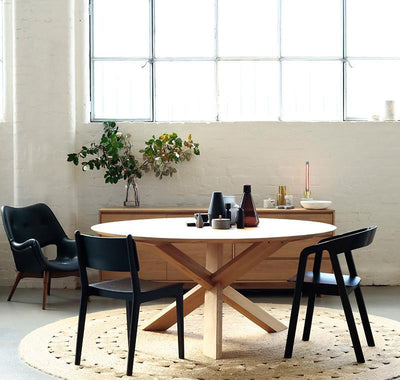 buy Ethnicraft Oak Circle dining table 136 online