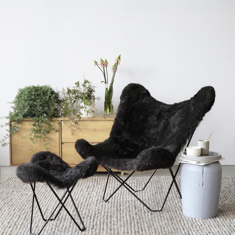 Icelandic Pampa Mariposa Shorn Black Chair