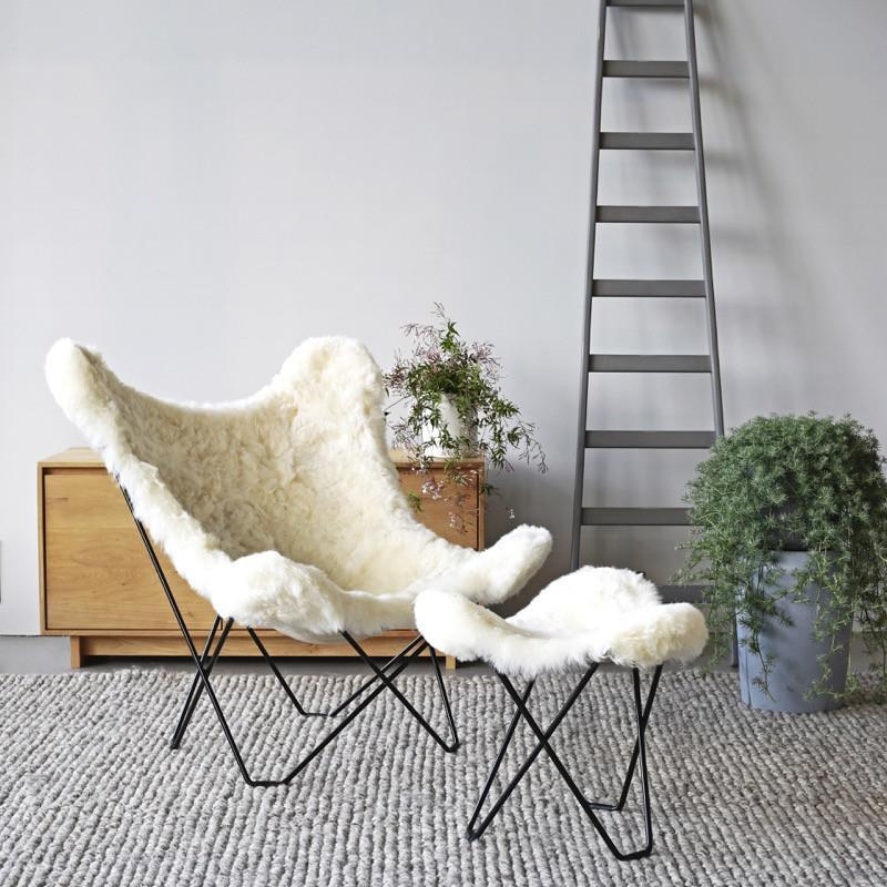 Icelandic Pampa Mariposa Shorn White Chair