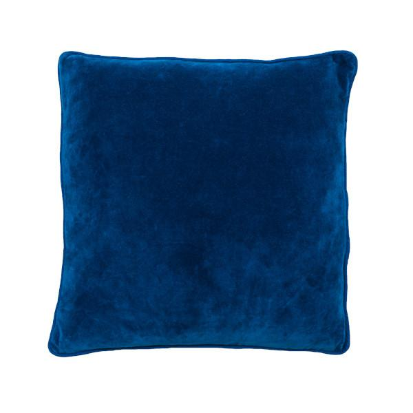 100% Cotton Indigo Velvet Cushion