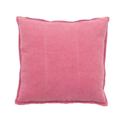 100% Pre-washed Bright Pink Linen Cushion
