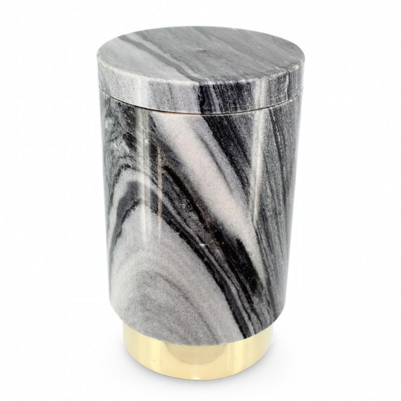 Mr Pinchy Ava Champagne Chiller - Polished Brass/Smokey Marble