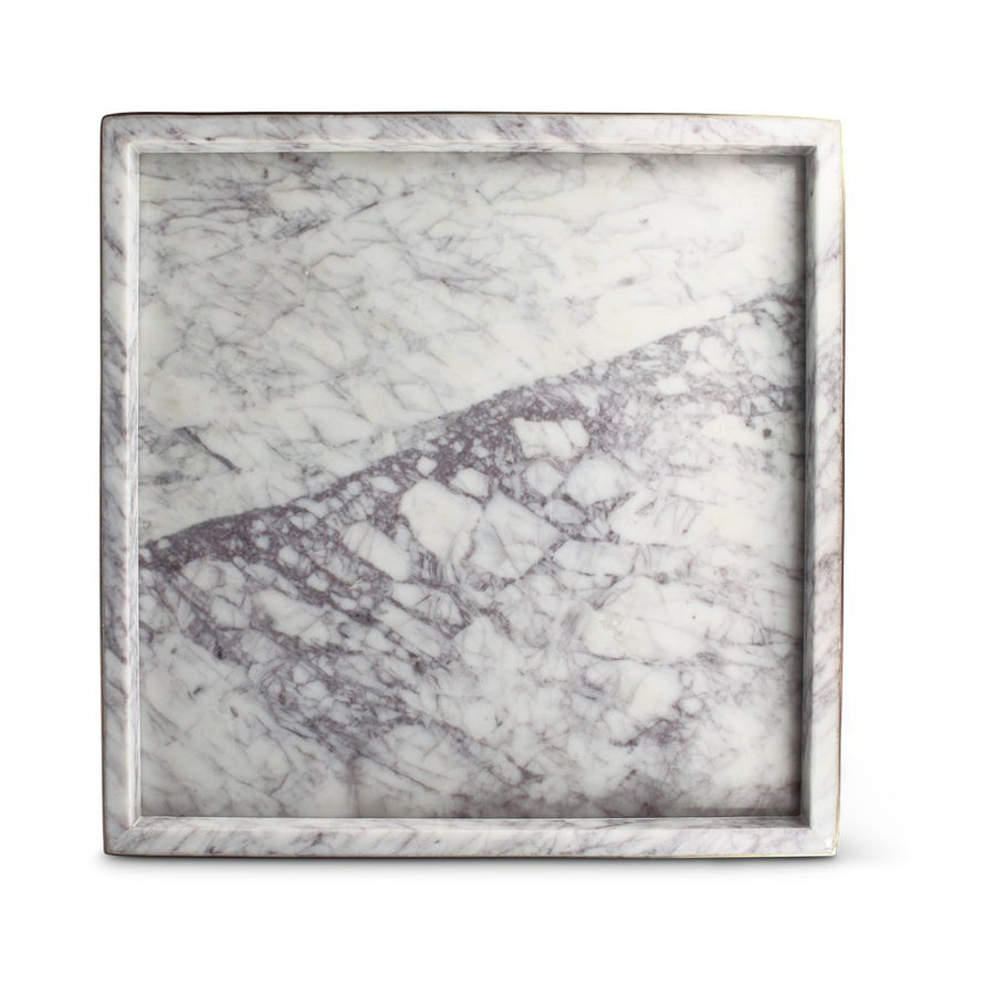 Ava Tray in White Marble