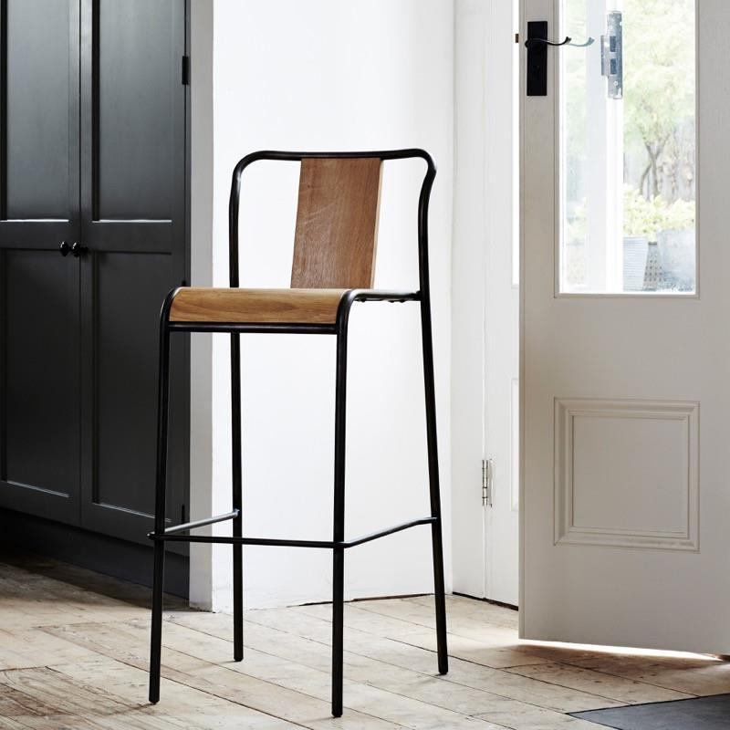 buy Industrial M Bar Stool - Graphite online
