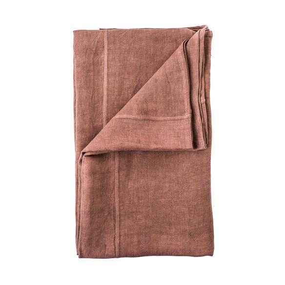 buy 100% Pre-washed Desert Rose Linen Bed Cover online