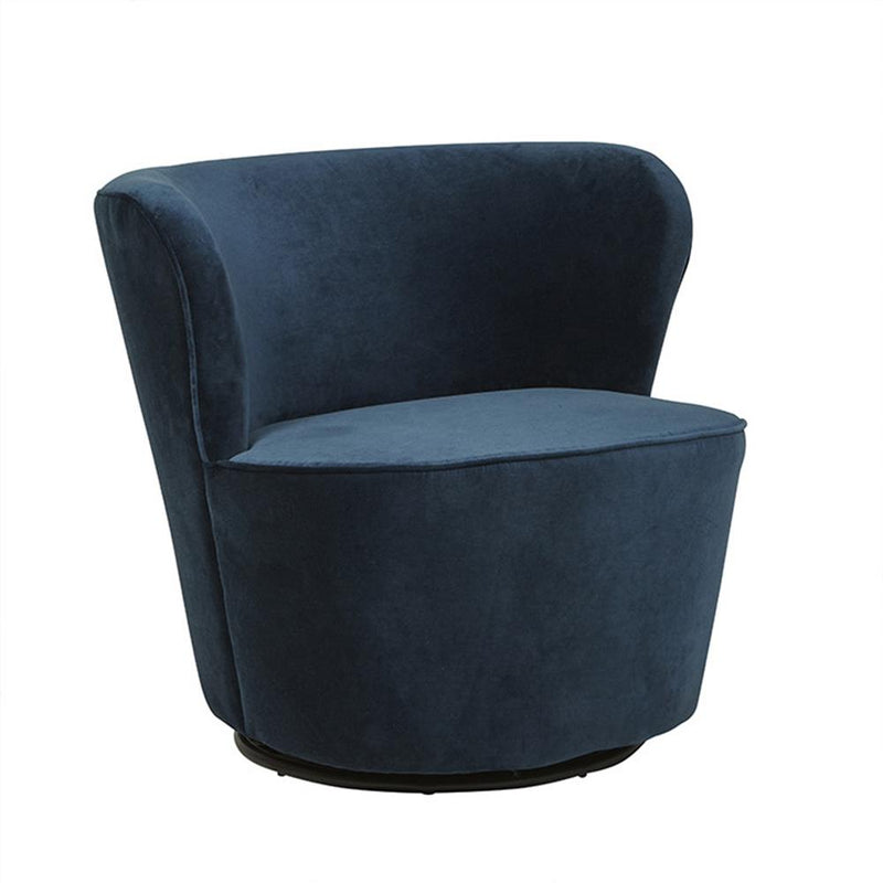Kennedy Swivel Occasional Chair in Navy Blue