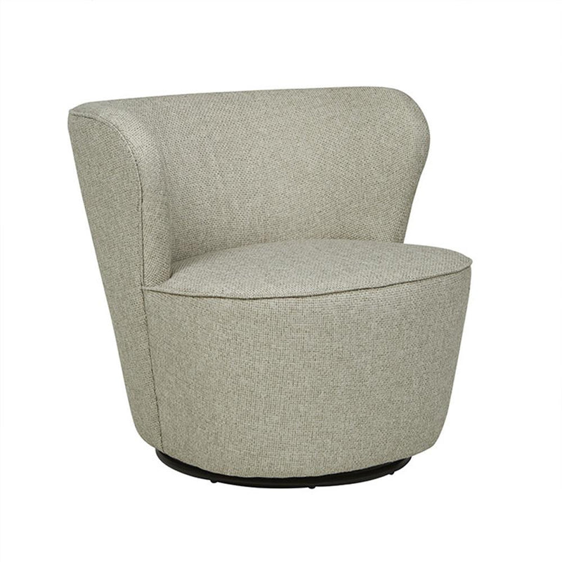 Kennedy Swivel Occasional Chair in Pebble