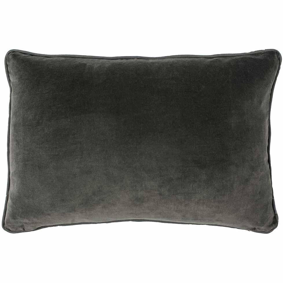 100% Cotton Coal Velvet Cushion