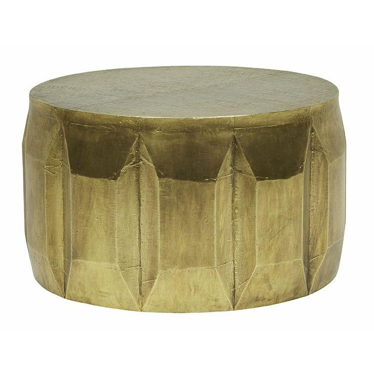 buy Carved Brass-look Coffee Table online