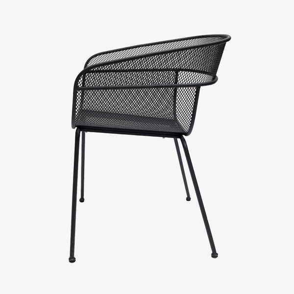 Scoop Outdoor Dining Chair In Black Curious Grace