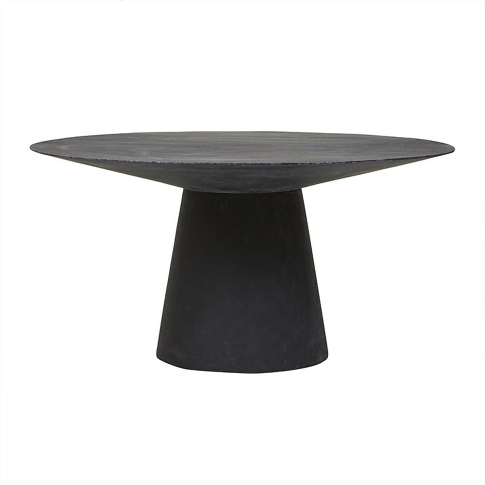 Livorno Round Dining Table in Black Speckle