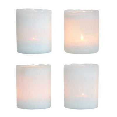White Glass Tealight Holder