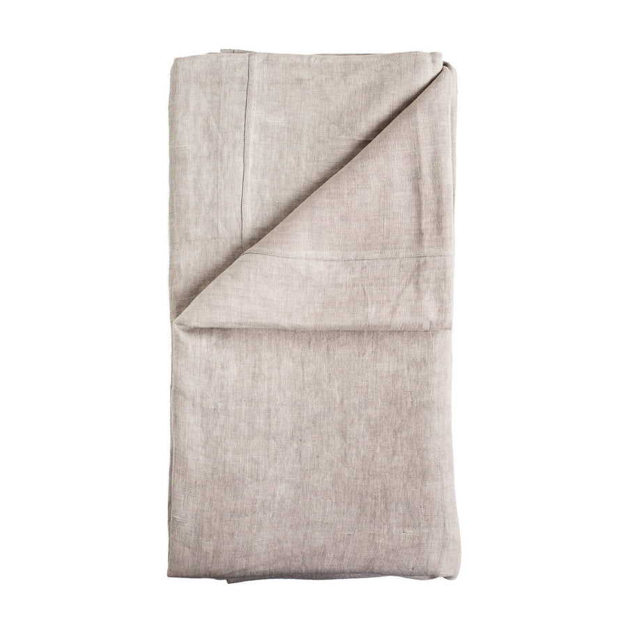100% Pre-washed Silver Grey Linen Bed Cover