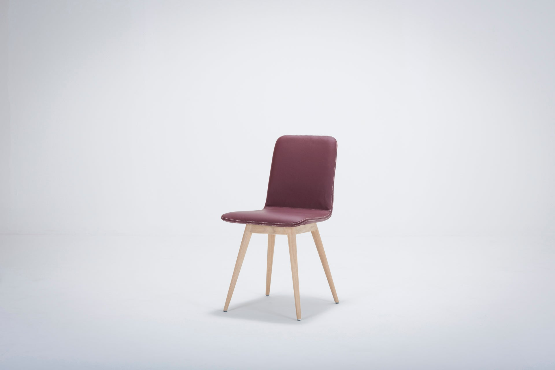 Ena Oak Dining Chair - Toledo Bianco Leather