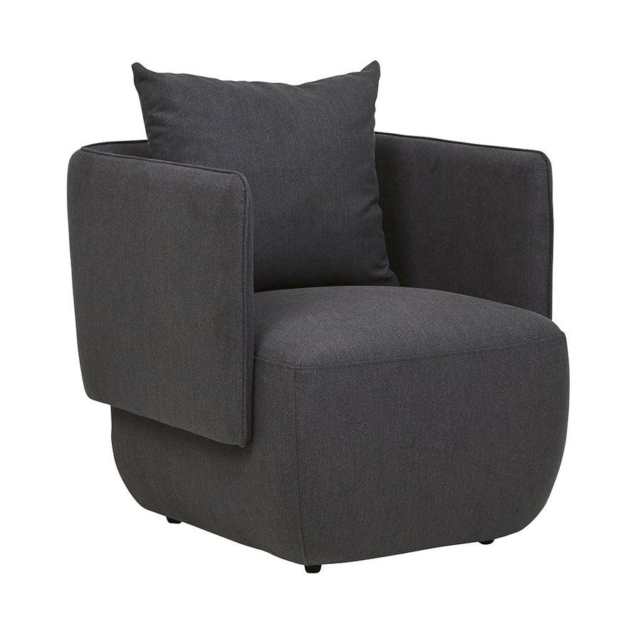 Felix Cocoon Occasional Chair Charcoal Marle