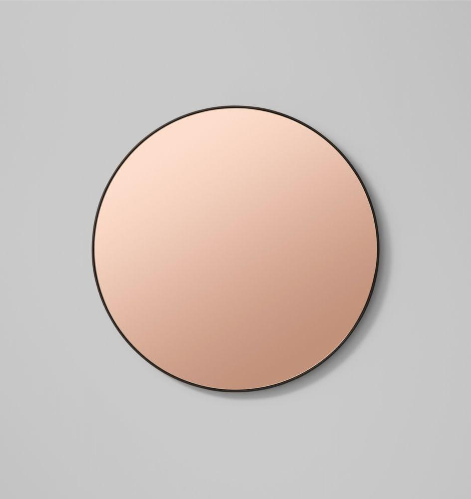 Round Flynn Mirror in Black/Dusk - Medium