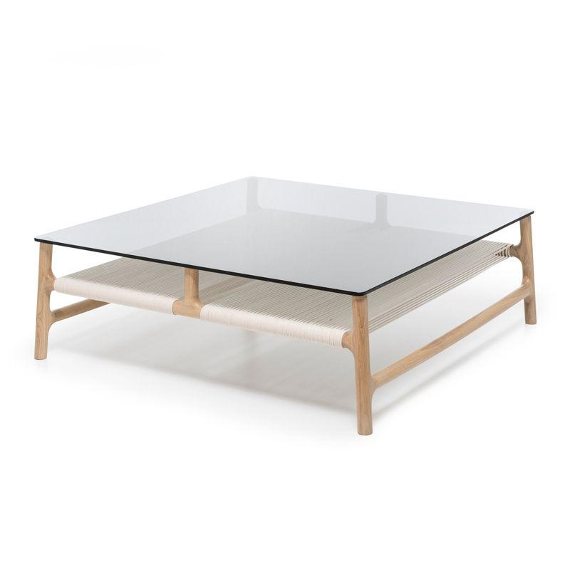 buy Fawn Oak Coffee Table - White Cotton online