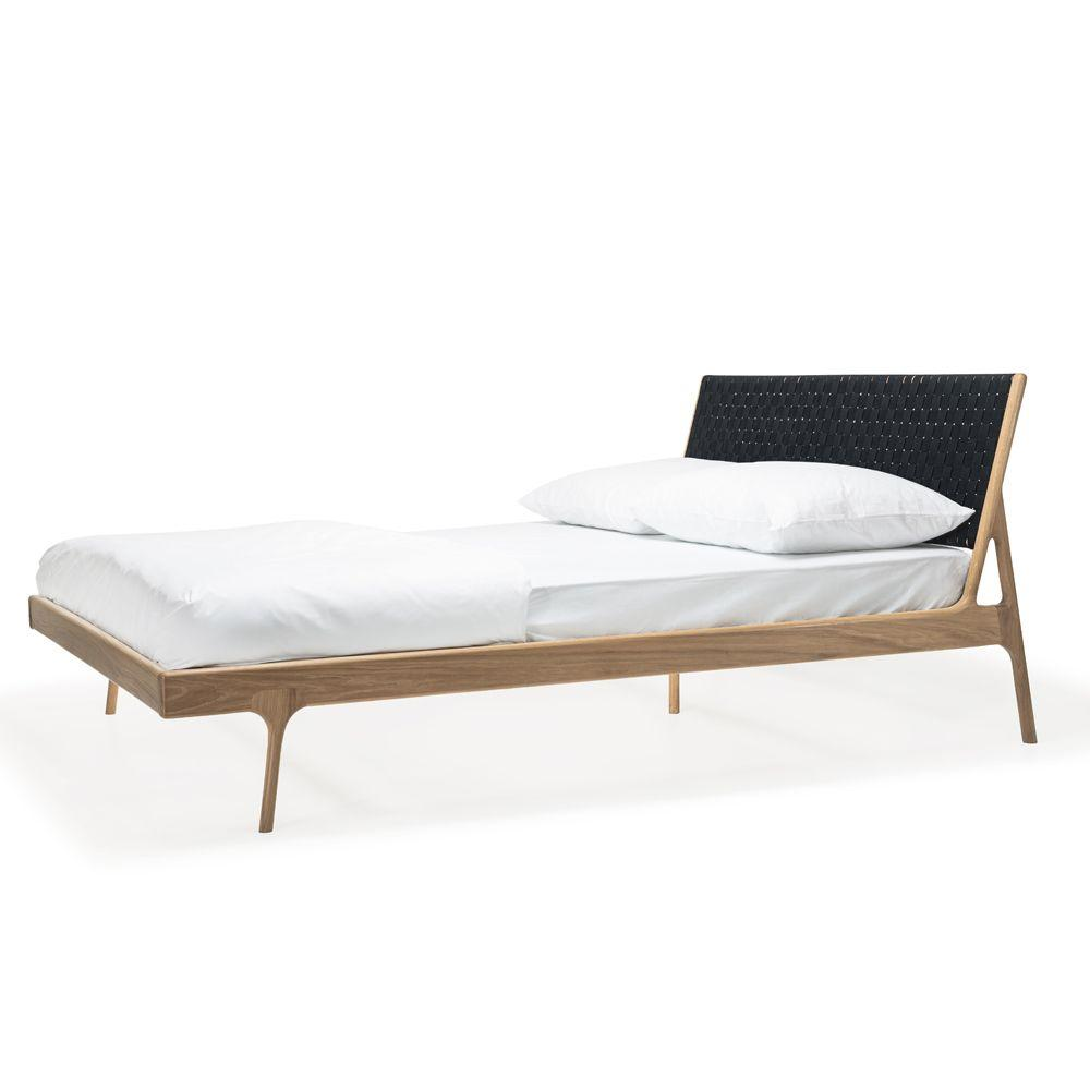 buy Fawn Oak Queen Bed - Black Cotton online