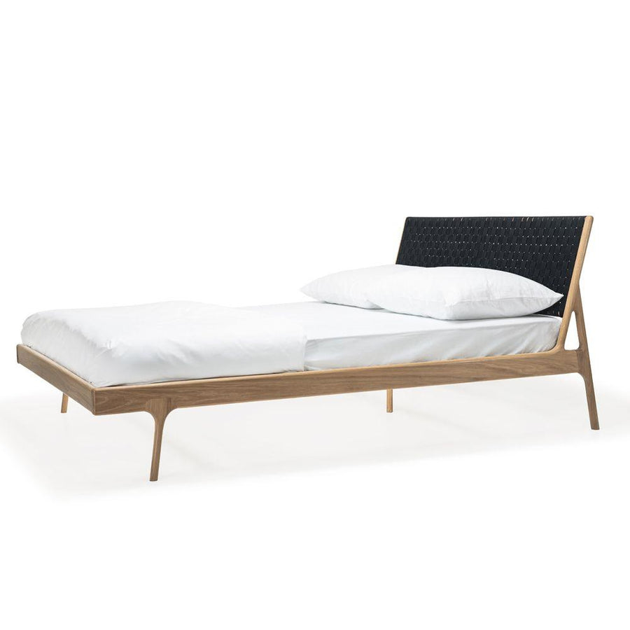 Fawn Oak Queen Bed - Black Cotton
