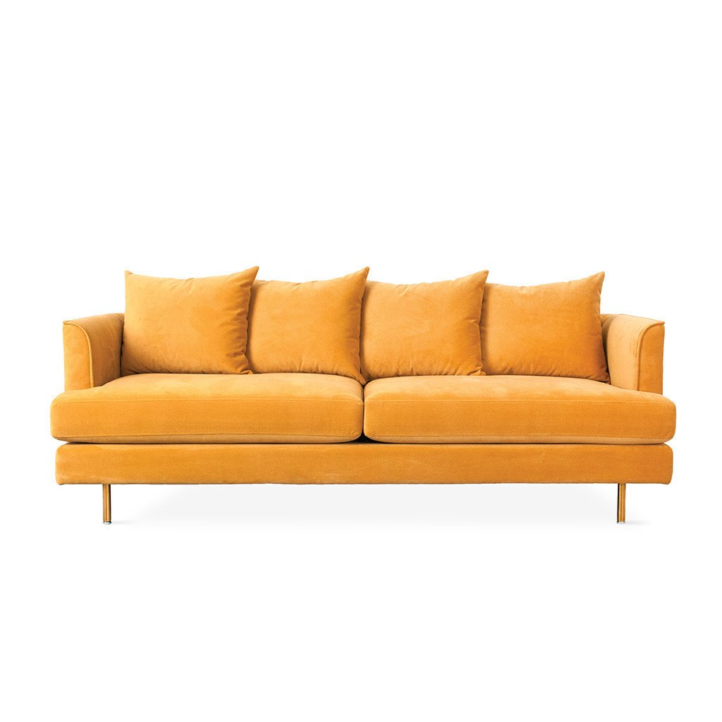 Margot Gold Leaf Velvet Sofa